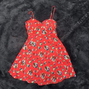 Material Girl XS Red Floral Dress